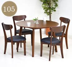 dining table sets round table 5 point 105 cm rati 360 dining table 5 piece set 4 people for chair completed wooden scandinavian dining round round round