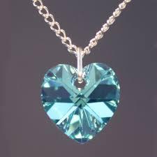 rochester crystals heart pendant aquamarine ab