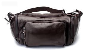 pack for men coffee leather hip bag