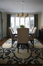 Cozy Grey Dining Room Rug Combined With Brown Hardwood Floor Under - Modern dining room rugs