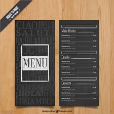 Modern Menu Template Vector Free Download