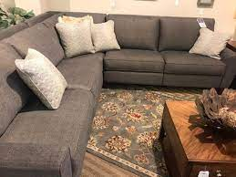 evenly sized l shaped sectional