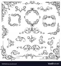 ornate swirls vector ornate swirl frames headers and scroll elements vector