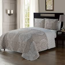 QUINN 3PC QUILT SET TAUPE F/Q ...