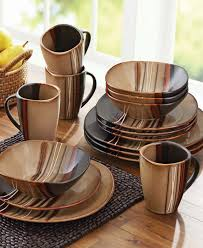 brown dinnerware sets. Wonderful Brown Better Homes And Gardens Bazaar Brown 16piece Dinnerware Set A Best  Seller With Dinnerware Sets