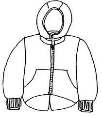 winter coat coloring page pages ideas inside of clothes