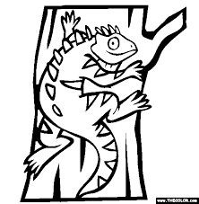 Pet Iguana pets online coloring pages page 1 on pets for coloring