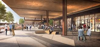 Norman foster office London Apple Foster Partners Norman Foster Red Hoek Point Scape Thor Equities Archdaily As Red Hooks Norman Foster Office Complex Plans Move Forward Local