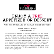 Red Lobster Your Restaurant Coupons
