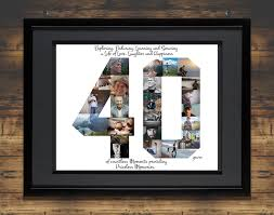 40th birthday photo collage 40th anniversary collage milestone birthday collage