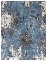 blue grey modern rug bell rugs look