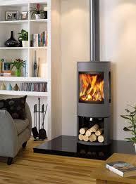A scandinavian wood stove heats a modern space with an open floorplan. D565fb838b3423c1849325e9d3cf0de3 Jpg 500 678 Pixels Contemporary Wood Burning Stoves Wood Burning Stoves Living Room Modern Wood Burning Stoves