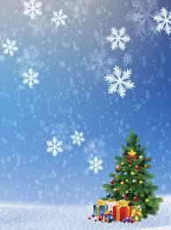 Beautiful Blue Snowflake Christmas Tree Poster Background