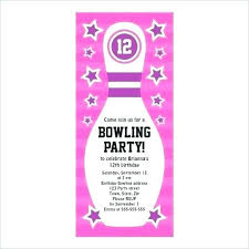 Bowling Party Invite Invitation Christmas Wording Evebox