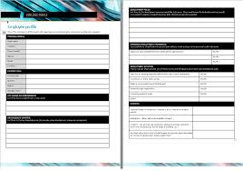 Employee Profile Format Employee Profile Format Doc Download Excel Template