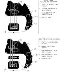 g l wiring diagrams and schematics control layout for the l5000 sb 1 and sb 2 late basses note that forthe upper layout contains a typo c tone control for single coil a should