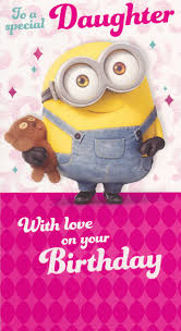 Minions Movie Daughter Birthday Card Cardspark