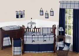 modern baby bedding sweet jojo designs navy blue and grey plaid boys sears for prod crib sets s girls monkey child owls at canada bedroom set nursery