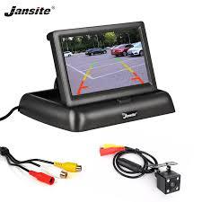 Jansite 4.3 inch Foldable <b>Car Monitor TFT LCD</b> Display Cameras ...