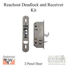 andersen reachout deadlock and receiver assembly kit 2 panel frenchwood gliding door 2006 present andersen gliding door reachout lock assembly