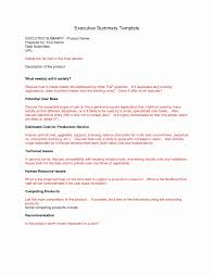 Executive Briefing Sample Best Of Executive Summary For A Business ...