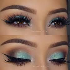 turquoise and brown eye makeup look ig phernandez mk