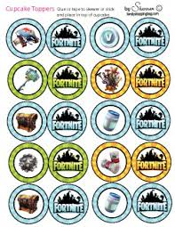 Cupcake Toppers Fortnite Fortnite Cupcake Wrappers Free