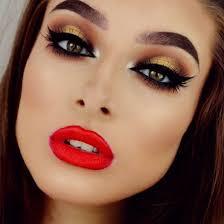 deep red winter makeup latest trends