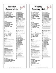 grocery checklist printable weekly grocery list for couples