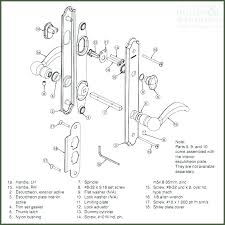 door parts replacement house door lock parts names door parts