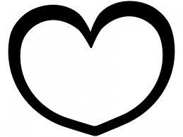 シンプルなハート型の白黒フレーム飾り枠イラスト 無料イラスト