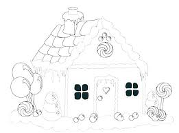 blank gingerbread house coloring pages. Delighful House Detailed Gingerbread House Coloring Pages Of  Houses S Colouring  For Blank N