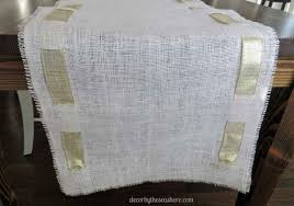 diy burlap table runner this burlap table runner is so pretty and perfect for any