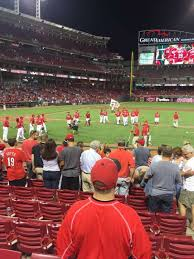 Great American Ball Park Section 129 Home Of Cincinnati Reds
