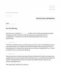 employee final warning letter sle