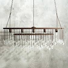 large rectangular chandelier rectangle s hanging capiz gray