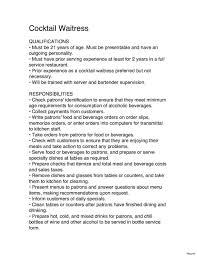 Job Description For Head Waiter Doctemplates123