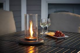 intrigue table top outdoor lantern  table top fire pits  fire