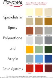 Flowcrete Color Chart Colour Chart For Epoxy And Polyurethane Systems For Commerce