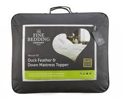 fine bedding duck feather down mattress topper