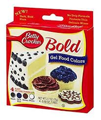 Betty Crocker Gel Food Color Blending Chart Amazon Com Betty Crocker Bold Gel Food Colors Black Dk