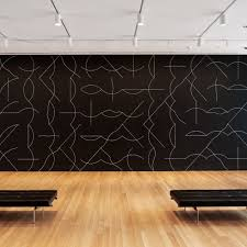 Installation view of Sol LeWitt's Wall Drawing #260 at The Museum of Modern  Art,