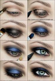 y dark blue makeup tutorial