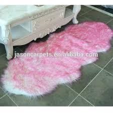 pink faux fur rug long hair pink color luxury sheepskin faux fur rug blush pink faux fur rug