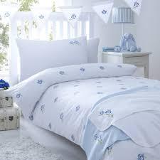 owls blue cot duvet cover