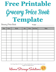Grocery List Prices Grocery Price Book Use It To Compare Grocery Prices In Your