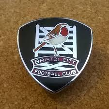 Image result for image of Bristol City black enamel pin badge