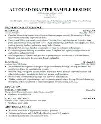 Autocad Drafter Resume Objective Professional Resume Templates