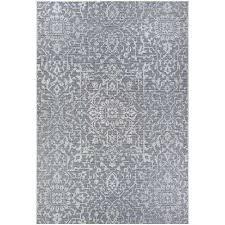 monte carlo palmette grey ivory 3 ft 9 in x 5 ft