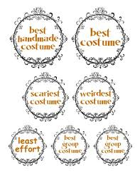 Halloween Costume Awards Halloween Costume Contest Prizes With Bonus Pdf I Could Make That